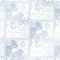 Tapetti Sandudd Muumi 5348-6, 0.53x10.05m, sininen/valkoinen, non-woven