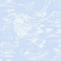 Muumi 5355-6 sininen/valkoinen