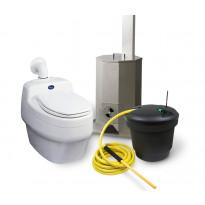 Polttava kuivakäymäläpaketti Separett Villa 9010, sis. ejektorisäiliö ja polttouuni