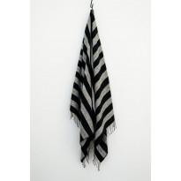 Kylpypyyhe Sera Helsinki Ukkonen 100x180cm, valkoinen/musta