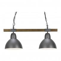 Riippuvalaisin Sessak Alex K1381-2GH, 63cm, metalli/puu, grafiitinharmaa