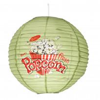 Varjostin Sessak Riisipaperi Popcorn Ø 40 cm vaaleanvihreä