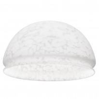 Lasikupu Sessak Lumi 25 Ø 25.5x14,5 cm marmoroitu valkoinen