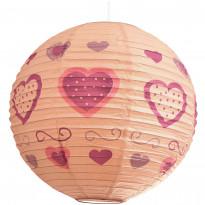 Varjostin Sessak Lyon Ø 40 cm persikka/sydänkuosi