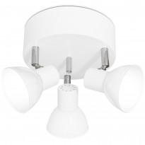 LED-kattospotti Sessak Olle 3-osainen valkoinen
