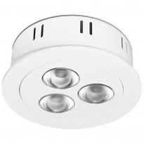 LED-alasvalo Sessak PA209-3 Ø 7 cm valkoinen