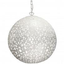 Riippuvalaisin By Rydéns Flowerball, Ø 40cm, metalli, antiikkivalkoinen