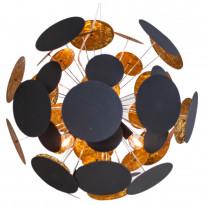 Riippuvalaisin By Rydéns Planet Ø 50 cm hiekanmusta/kulta