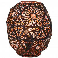 Pöytävalaisin By Rydéns Shimla 4000290-4002, 26,5cm, metalli, mattamusta/kupari