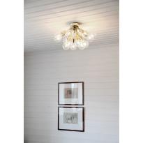 Plafondi By Rydéns Sunshine 2828180-6509, metalli, messinki