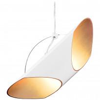 Riippuvalaisin Sessak Section 36x9,5 cm valkoinen/kulta