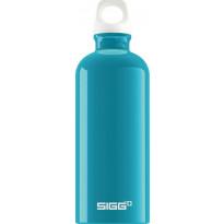 Juomapullo SIGG 0,6 L, Fabulous Aqua, alumiini