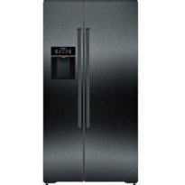Jääkaappipakastin Siemens iQ700 Side-by-Side KA92DHXFP, 367/173l, 178x91cm, musta/teräs
