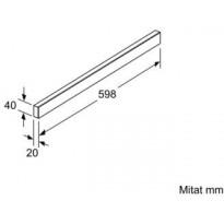 Liesituulettimen etulista LZ46520, 60cm, valkoinen
