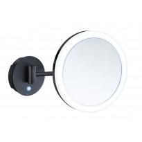 Meikkipeili LED Smedbo Outline Dual light, 5-kertainen suurennos, musta