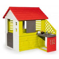 Leikkimökki Smoby Natur House + keittiö