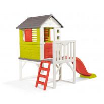 Leikkimökki Smoby House On Stilts + liukumäki