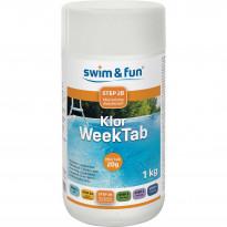 Viikkokloori Swim & Fun Klor Week Tab 1 kg, 20 g / kpl