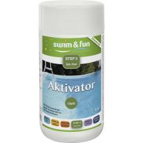 Desinfiointitehostin Swim & Fun Aktivator 1 l, aktiivihapelle