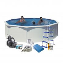 Uima-allaspaketti Swim & Fun 120 pyöreä Ø460 cm valkoinen