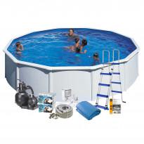 Uima-allaspaketti Swim & Fun 120 pyöreä Ø550 cm valkoinen