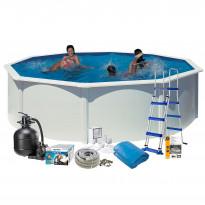 Uima-allaspaketti Swim & Fun 132 pyöreä Ø460 cm valkoinen