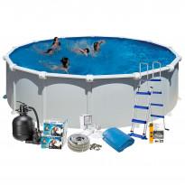 Uima-allaspaketti Swim & Fun Basic 132, pyöreä Ø550 cm valkoinen
