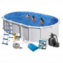 Uima-allaspaketti Swim & Fun Basic 132, 730 x 375 cm valkoinen