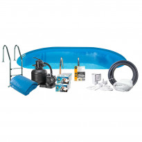Uima-allaspaketti Swim & Fun InGround 150 soikea 700 x 320 cm upotettava