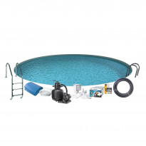 Uima-allaspaketti Swim & Fun Basic InGround 120, pyöreä Ø350 cm upotettava
