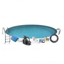 Uima-allaspaketti Swim & Fun Basic InGround 120, pyöreä Ø420 cm upotettava