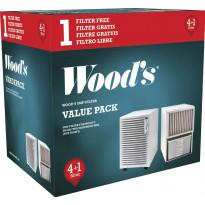 Ilmansuodatin Woods SMF, ilman kehystä, 5 kpl