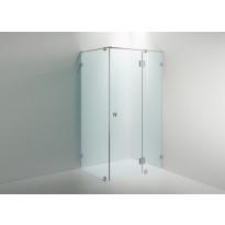 Suihkukulma Sanka ARC 15, kirkas lasi Timeless, kromi, seinä ja seinä + ovi, eri kokoja
