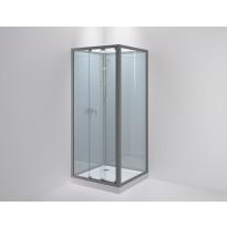 Suihkukaappi Sanka SLIDE 92, kirkas lasi, eri värejä, eri kokoja
