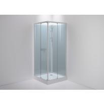 Suihkukaappi Sanka SLIDE 91, kirkas lasi, eri värejä, eri kokoja