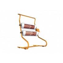 Työmaalämmitin 2 x 1400 ECO+PRO työmaalämmitin titaani/oranssi