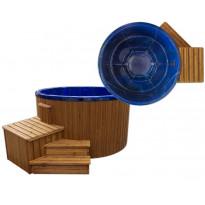 Ulkoporeallas SpaDealers TopSpa xs, 6 hlöä, brown/ocean blue