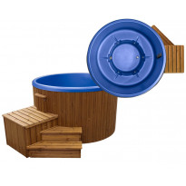Ulkoporeallas SpaDealers TopSpa xs, 6 hlöä, brown/azul blue