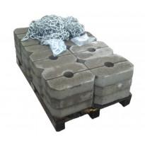 Ankkurointipaketti muoviponttonilaiturille, betoniankkurit 24x25kg