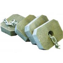Ankkurointipaketti muoviponttonilaiturille, betoniankkurit 10x25kg