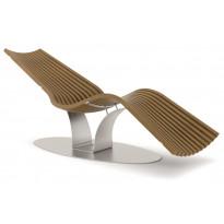 Lepotuoli Saunasella Wace Balance Steel, puukomposiitti/maalattu jalusta