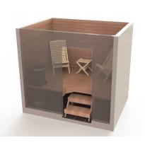 Saunatuolipaketti Saunasella Wood, 2xW-100-tuoli + 1xW-10-rahi