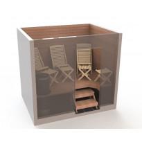 Saunatuolipaketti Saunasella Wood, 3xW-100 tuoli + 4xW-10 rahi