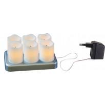 Ladattavat LED-kynttilät Star Trading Chargeme, 6 kpl