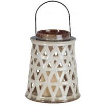 LED-kynttilälyhty Star Trading Cera, 21cm, beige