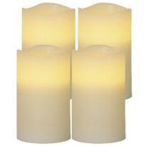 LED-pöytäkynttilä Star Trading May, 12,5cm, beige, 4 kpl