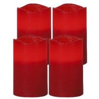 LED-pöytäkynttilä Star Trading May, 12,5cm, punainen, 4 kpl