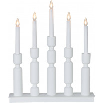 Kynttelikkö Star Trading Uddebo, 5-osainen, 440x370x75mm, valkoinen