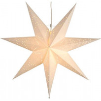 Valotähti Star Trading Sensy, 51cm, paperi, valkoinen
