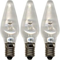 LED-varalamppu Star Trading E10 0,2W 10-55V, Ø55x18mm, 3 kpl